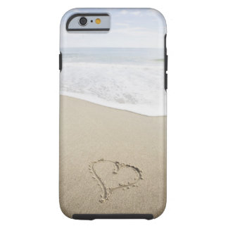 USA, Massachusetts, Hearts drawn on sandy beach Tough iPhone 6 Case