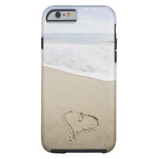 USA, Massachusetts, Hearts drawn on sandy beach Tough iPhone 6 Case