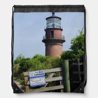 USA, Massachusetts, Martha's Vineyard, Aquinnah. Drawstring Backpack