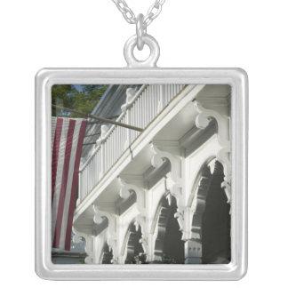 USA, MASSACHUSETTS, Martha's Vineyard: Square Pendant Necklace