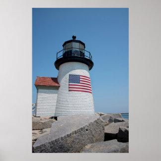 USA, Massachusetts, Nantucket. Brant Point Poster