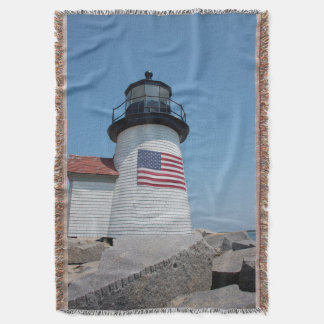 USA, Massachusetts, Nantucket. Brant Point Throw Blanket