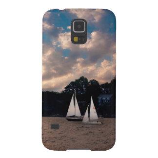 USA, Massachusetts. Sunset Sailing Case For Galaxy S5
