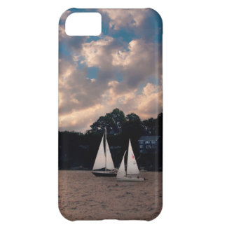 USA, Massachusetts. Sunset Sailing iPhone 5C Cover