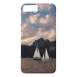 USA, Massachusetts. Sunset Sailing iPhone 8 Plus/7 Plus Case