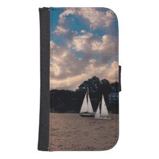 USA, Massachusetts. Sunset Sailing Phone Wallet