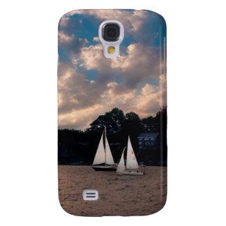 USA, Massachusetts. Sunset Sailing Samsung Galaxy S4 Case