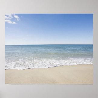 USA Massachusetts Waves at sandy beach 2 Posters
