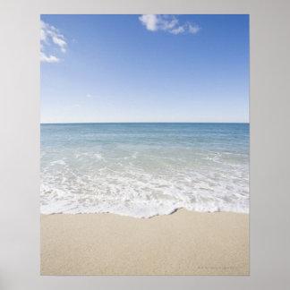 USA Massachusetts Waves at sandy beach Poster