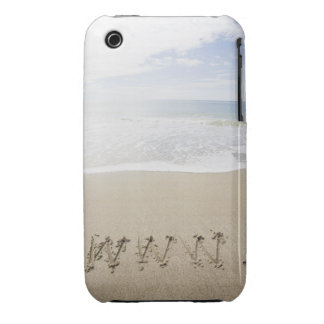 USA, Massachusetts, WWW drawn on sandy beach iPhone 3 Covers