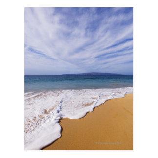 USA, Maui, Wailea, surf and shoreline Postcard