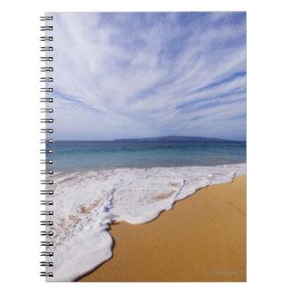 USA, Maui, Wailea, surf and shoreline Spiral Notebook