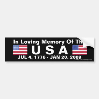 USA Memorial Bumper Sticker