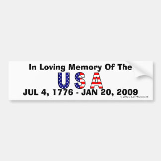 USA Memory Bumper Sticker