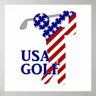 USA Mens Golf - Male Golfer Poster