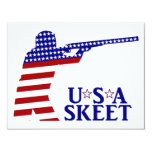 USA Mens Shooting 4.25x5.5 Paper Invitation Card