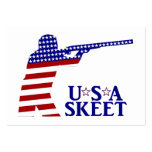 USA Mens Shooting Large Business Cards (Pack Of 100)