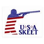 USA Mens Shooting Postcard