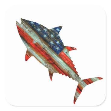 USA Themed USA Merica Tuna Square Sticker