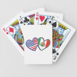USA Mexico Heart Flags Poker Deck
