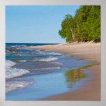 USA, Michigan. 12 Mile Beach Poster