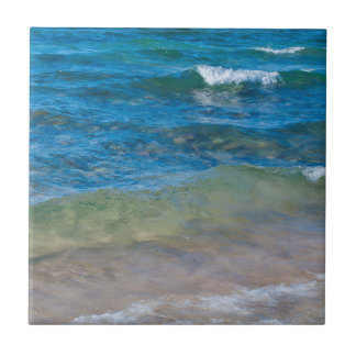 USA, Michigan. Clear Waters Of Lake Superior Ceramic Tile