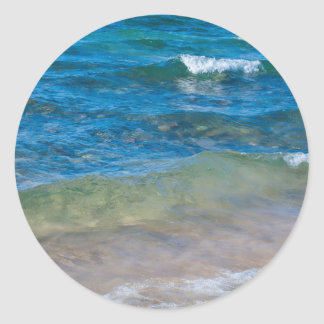 USA, Michigan. Clear Waters Of Lake Superior Classic Round Sticker