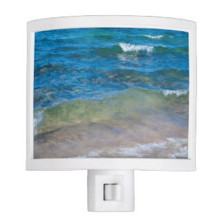 USA, Michigan. Clear Waters Of Lake Superior Night Light