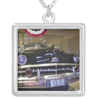 USA, Michigan, Dearborn: The Henry Ford Museum, 2 Silver Plated Necklace