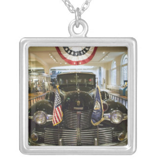 USA, Michigan, Dearborn: The Henry Ford Museum, Silver Plated Necklace