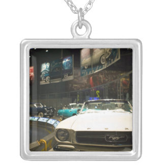 USA, Michigan, Detroit: Ford Rouge Factory Tour, Silver Plated Necklace