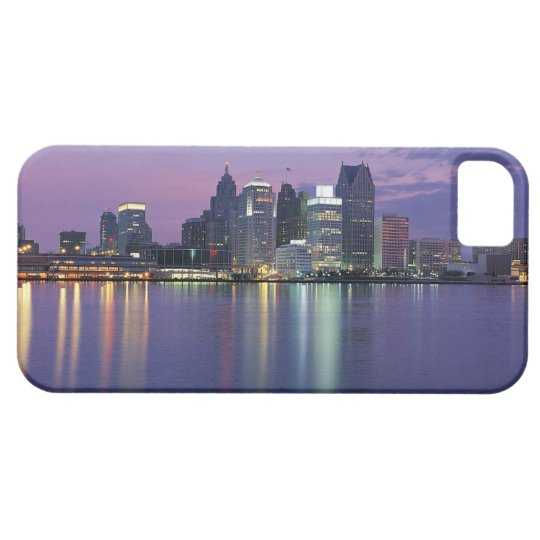 USA, Michigan, Detroit skyline, night iPhone SE/5/5s Case