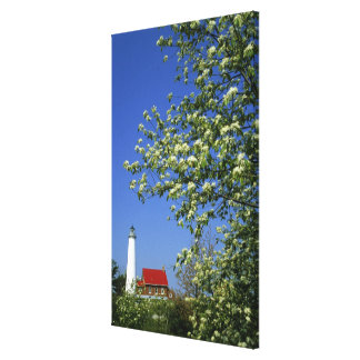 USA, Michigan, East Tawas. Tawas Lighthouse with Canvas Print
