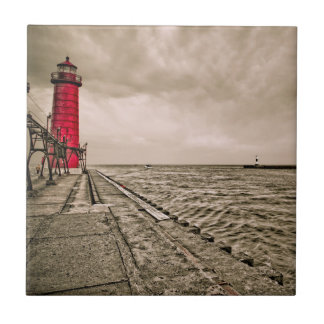 USA, Michigan, Grand Haven Lighthouse Ceramic Tile