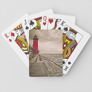 USA, Michigan, Grand Haven Lighthouse Playing Cards