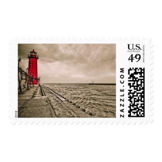 USA, Michigan, Grand Haven Lighthouse Postage