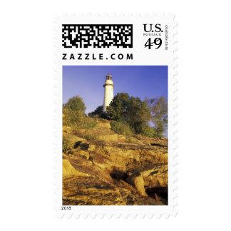 USA, Michigan, Lake Huron. Pointe Aux Barques Postage Stamps