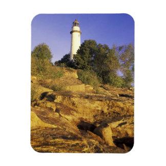USA, Michigan, Lake Huron. Pointe Aux Barques Rectangular Photo Magnet