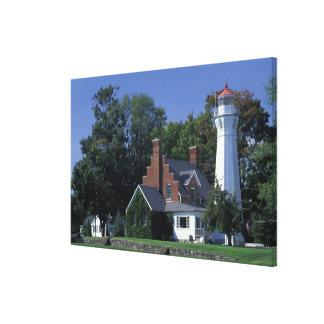 USA, Michigan, Lake Huron. Port Sanilac Canvas Print