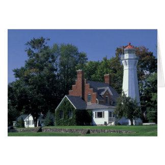 USA, Michigan, Lake Huron. Port Sanilac Card