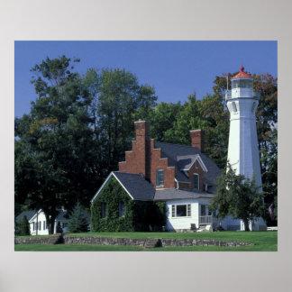 USA, Michigan, Lake Huron. Port Sanilac Print