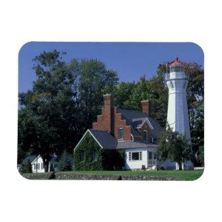 USA, Michigan, Lake Huron. Port Sanilac Rectangular Photo Magnet