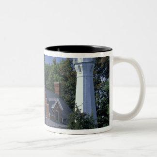USA, Michigan, Lake Huron. Port Sanilac Two-Tone Coffee Mug