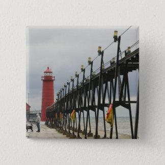 USA, Michigan, Lake Michigan Shore, Grand Haven: Pinback Button