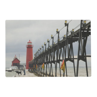 USA, Michigan, Lake Michigan Shore, Grand Haven: Placemat