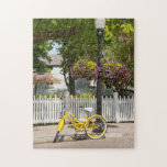 "USA, Michigan, Mackinac Island. Yellow Bike Jigsaw Puzzle<br><div class=""desc"">Cindy Miller Hopkins / DanitaDelimont.com USA,  North America,  Michigan</div>"