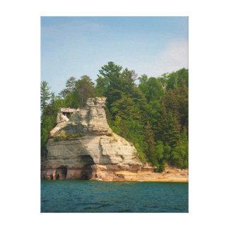 USA, Michigan. Miner's Castle Rock Formation 2 Canvas Print