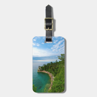 USA, Michigan. Miner's Castle Rock Formation 3 Bag Tag