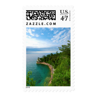 USA, Michigan. Miner's Castle Rock Formation 3 Postage