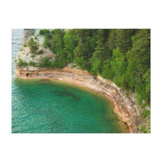USA, Michigan. Miner's Castle Rock Formation 4 Canvas Print
